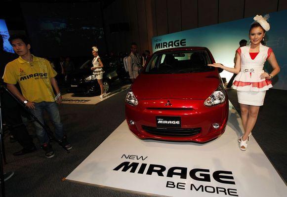 Een Mitsubishi Mirage.