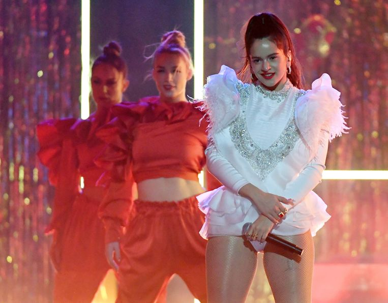 Rosalía afgelopen november tijdens de Latin Grammy Awards in Las Vegas. Beeld Getty Images for LARAS
