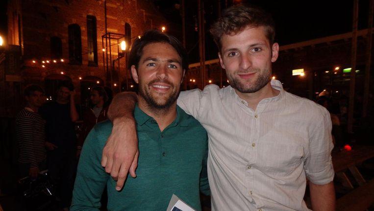 Frederick Mansell (l) en Laurens Samsom (Dimdocs), de makers van de documentaire Team Gaza Beeld Schuim