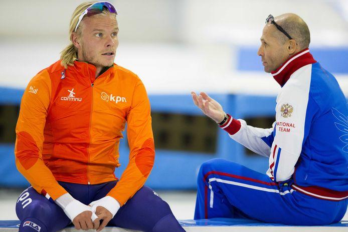 Koen Verweij met coach Kosta Poltavets.
