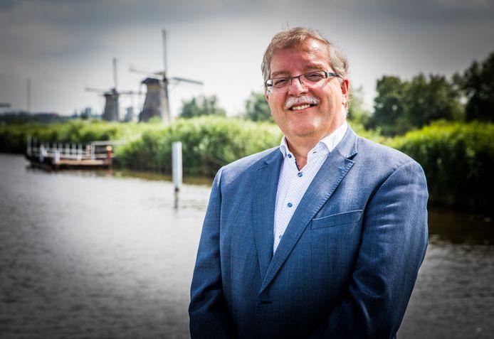 Directeur Cees van der Vlist van de Stichting Werelderfgoed Kinderdijk.