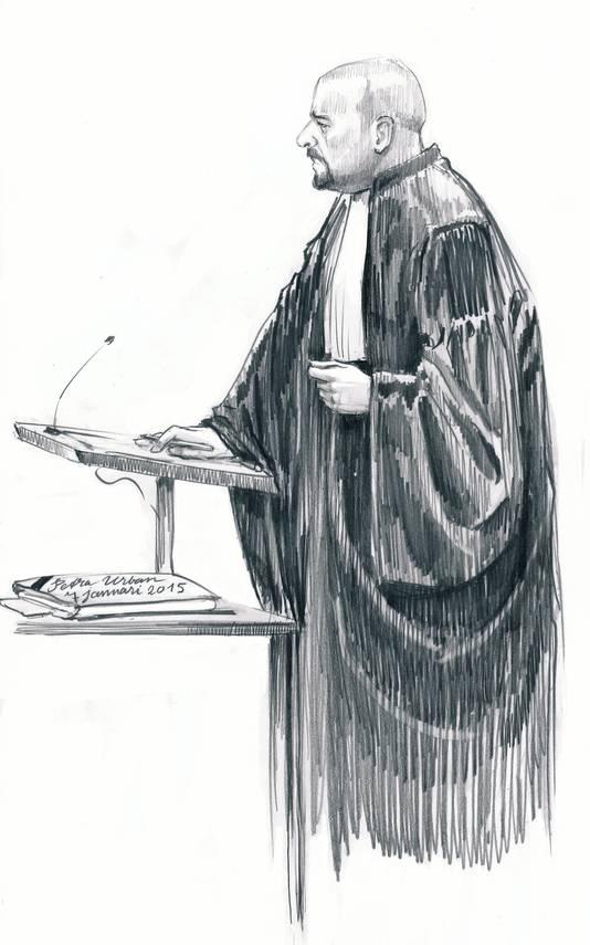Advocaat De Vries voert sinds kort de verdediging van Ferdinand S. S. was gisteren niet aanwezig in de rechtszaal.