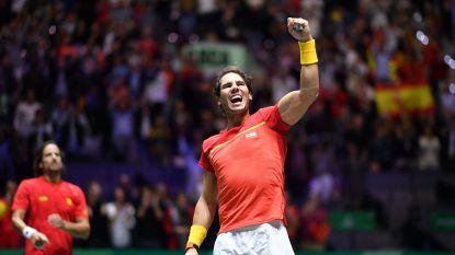 """Nadal met Spanje naar finale voor eigen volk op Davis Cup: """"Onvergetelijke avond"""""""