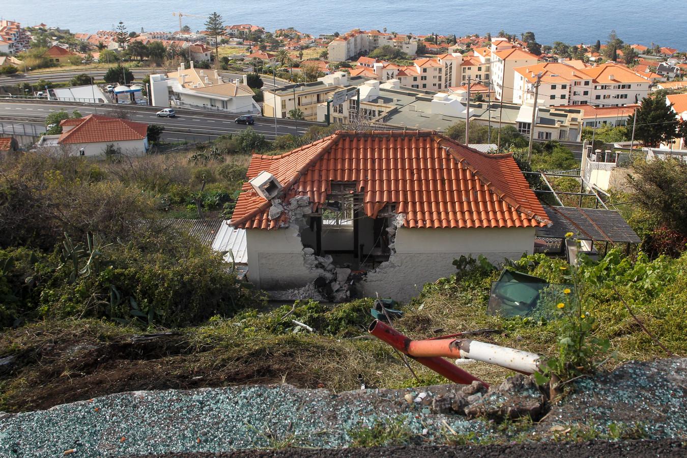 Het huis dat de rollende bus tegenhield.