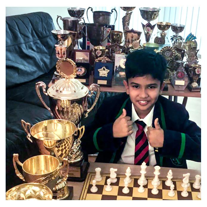 Shreyas Royal (9) begon meteen thuis op de bank te dansen toen hij hoorde dat hij en zijn ouders in  Groot-Brittannië mogen blijven wonen. Foto EPA