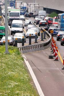 Let op: linkerbaan voor meeste auto's verboden terrein bij wegwerkzaamheden Duitsland