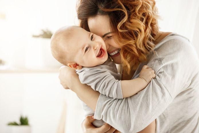 Baby met moeder