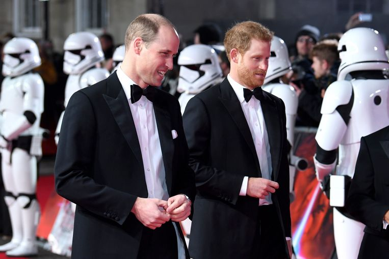 Star Wars: The Last Jedi European Premiere - London: William en Harry tussen de stormtroopers.