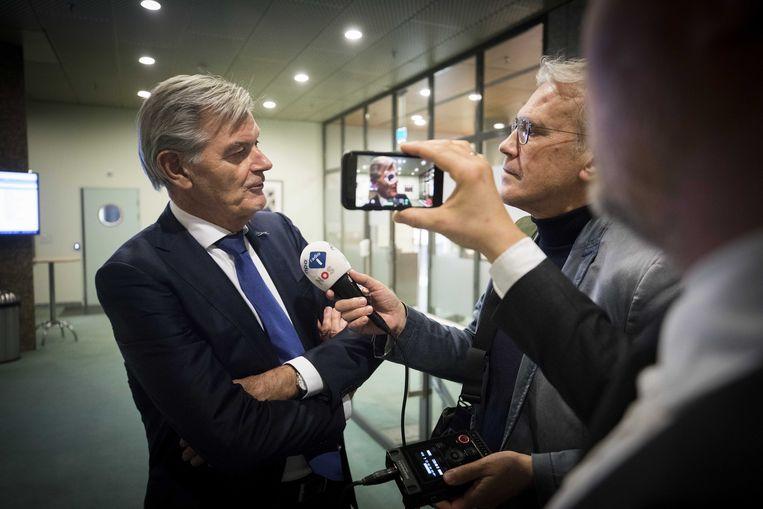 Martin van Rooijen staat de pers te woord. Beeld anp
