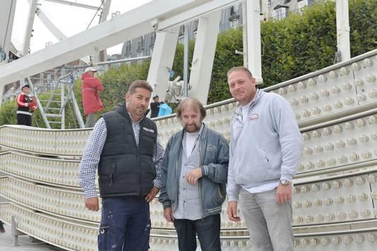 Foorkramer René Bufkens met zijn opa Jozef en neef Tony.