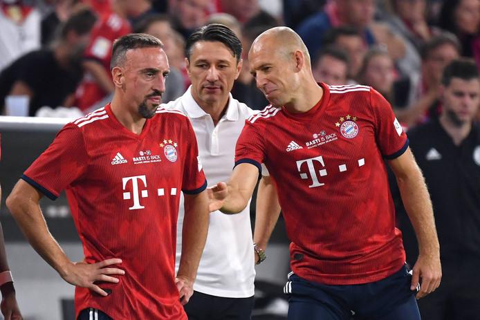 Robben en Ribéry zoals we ze dit seizoen vooral zagen: als invaller.