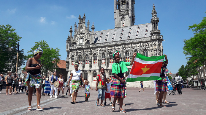 Keti Koti Festival vorig jaar in Middelburg.