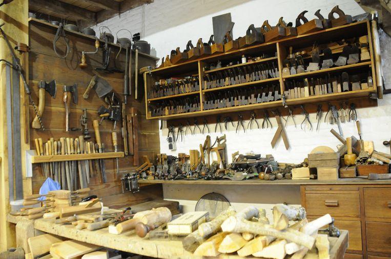 Herman is al veertig jaar verzamelaar van authentieke handgereedschappen