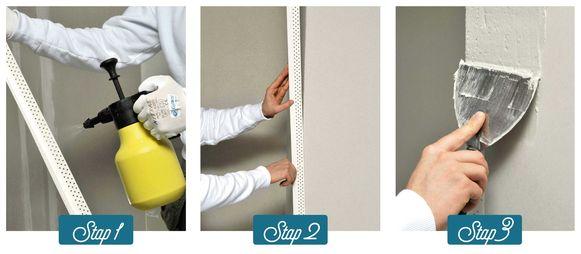 Stap 1: Kies de gepaste afwerking. Stap 2: Werk de voegen netjes af. Stap 3: Vergeet de hoeken niet.