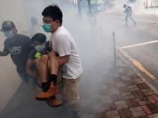 Politie Hongkong grijpt in bij betoging