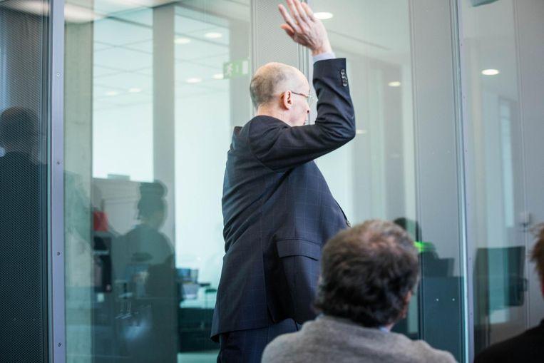 Patrick De Nolf, de vader van Oliver, liep bij de vrijspraak van de bestuurder boos de zittingszaal uit.