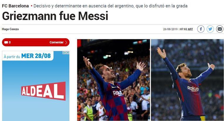 """""""Griezmann was Messi."""""""