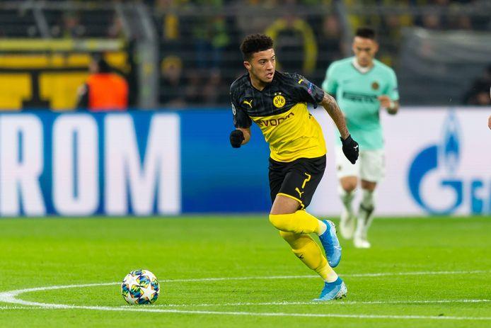 Jadon Sancho in actie tegen Internazionale.