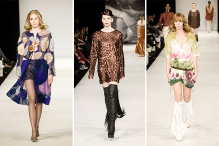 De jurken van (vlnr) Lisa Weinberg, Individuals en Marloes Blaas. Foto's Geert Snoeijer Beeld