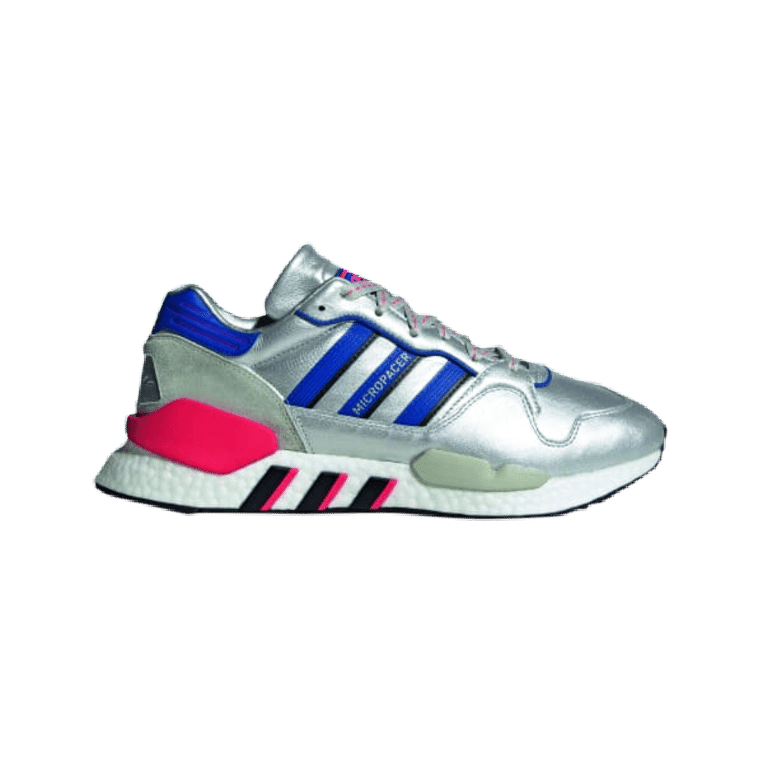 Zilver aan je voeten: sneakers, Adidas, € 169,95 via adidas.nl Beeld null