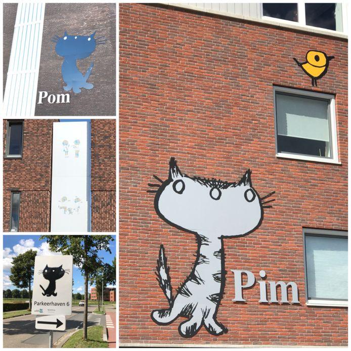 Op steeds meer locaties in Zaltbommel duiken illustraties van Fiep Westendorp op.