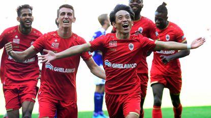 Invaller Miyoshi knalt Antwerp in slot voorbij Anderlecht, dat achterblijft met 5 op 21