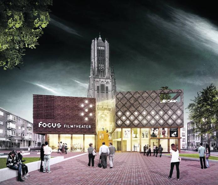 Een impressie van de visie van architectenbureau DP6 op het nieuwe filmhuis in Arnhem.