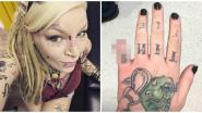 """Tattoo-artieste knipt pink af """"omdat het er goed uitziet"""""""