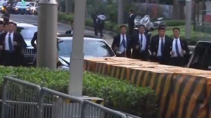 Daar zijn de joggende bodyguards van Kim Jong-un weer