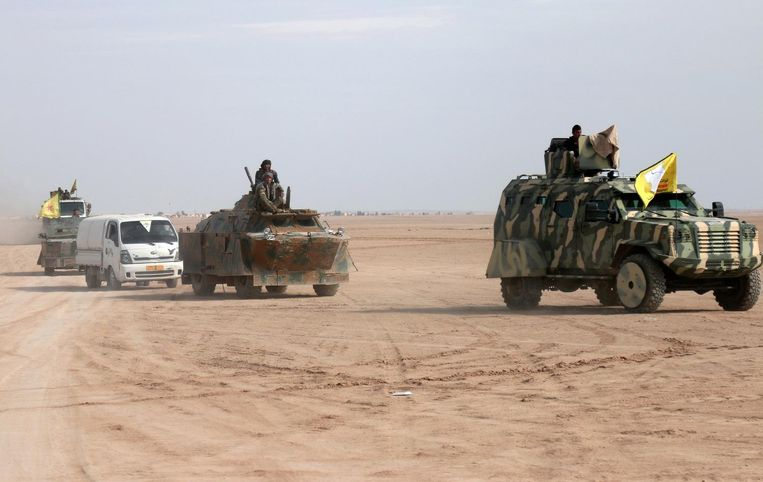 Strijders van de Syrische Democratische Strijdkrachten (SDF). Beeld reuters