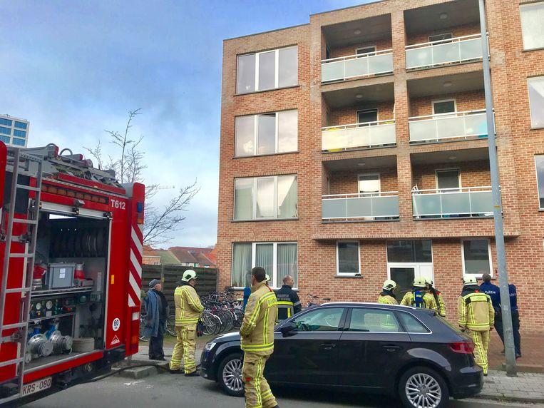 Het appartement is voorlopig onbewoonbaar door de schade.