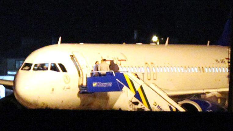 Het Syrische vliegtuig dat gedwongen werd te landen in Turkije. Beeld anp
