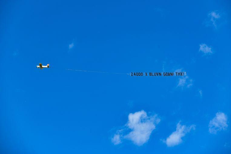 Het vliegtuig is dinsdagochtend over de kuststreek gevlogen.
