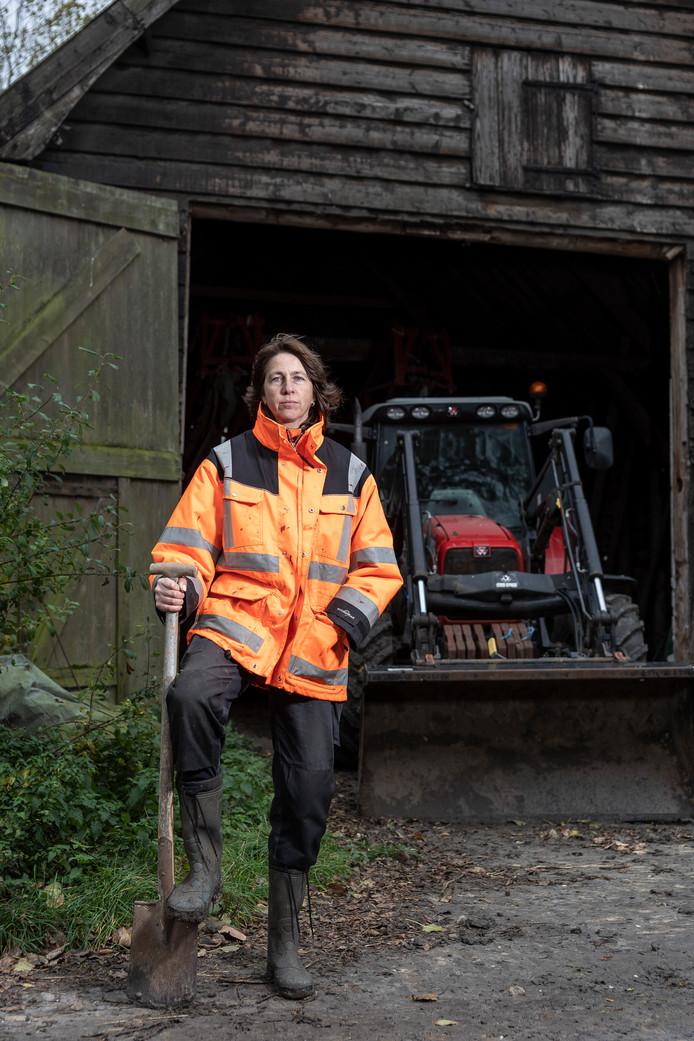 Bertie Steur op haar bedrijf in Renesse.