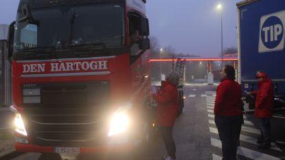 Vakbonden voeren actie op parkings E314 Zolder en Zonhoven