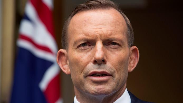 De Australische premier Tony Abbott.