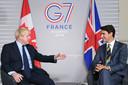Boris Johnson en Justin Trudeau.