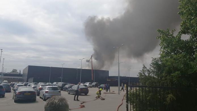 Brand in de Gazellefabriek in Dieren.
