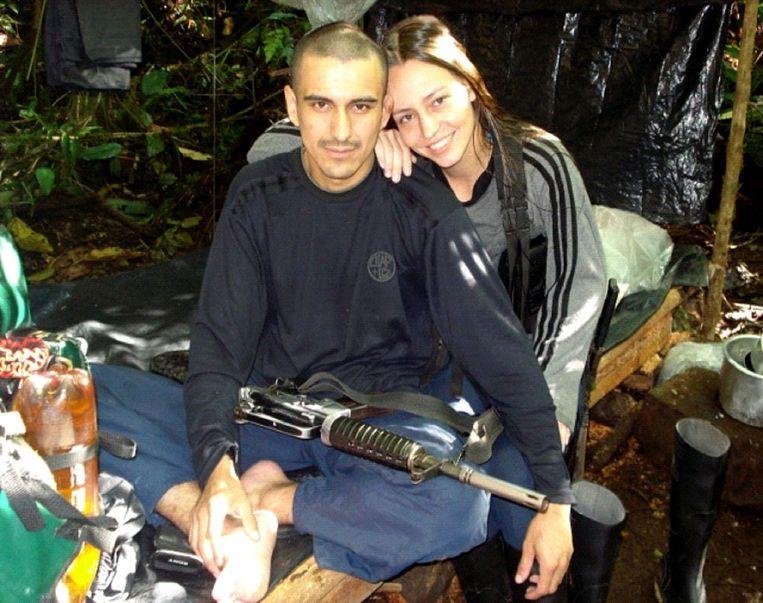Tanja Nijmeijer met een mede-Farclid  Beeld EPA