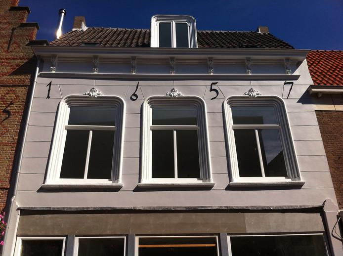 Het gerestaureerde monument in de Walstraat in Vlissingen.