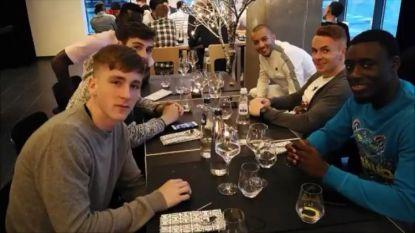 Hanni mee op restaurant met ex-ploegmakkers