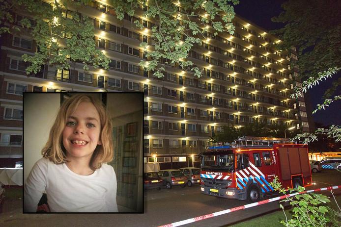 Sharleyne werd begin juni 2015 dood gevonden onderaan de flat in Hoogeveen.