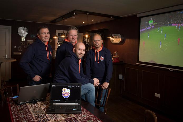 De organisatoren van de Meierij Cup zaalvoetbal: vlnr. Maurice van de Pol, Henk Wagenaar, Johan den Otter en Rob de Groot.