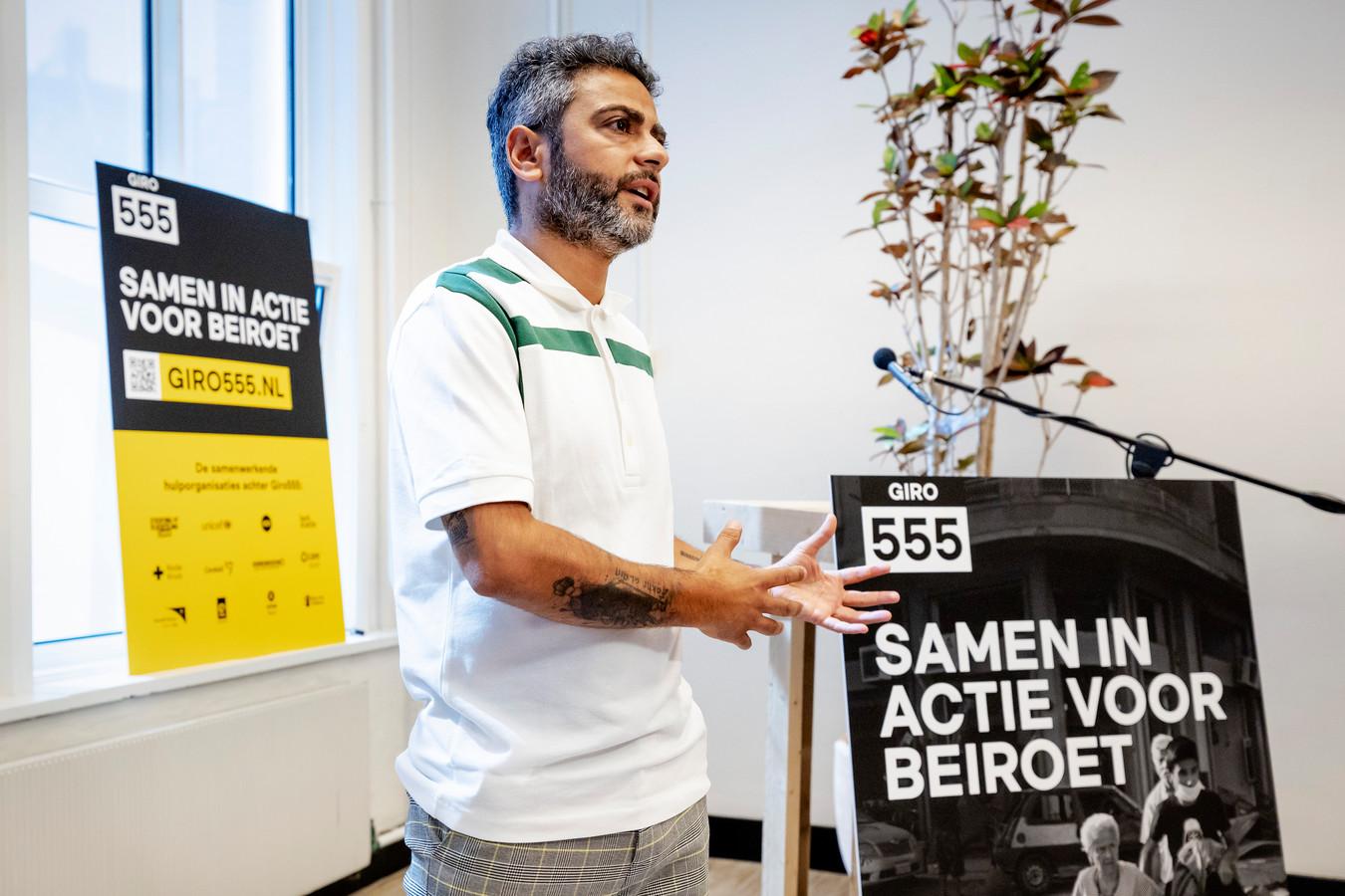 Bekende Nederlanders als Danny Ghosen, Art Rooijakkers, Giel Beelen en Jörgen Raymann doen vrijdag mee aan de nationale actiedag voor de slachtoffers van de explosie in Beiroet.