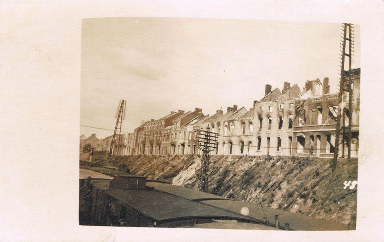 De Martelarenlaan achter het station werd tijdens WO I zwaar beschadigd.