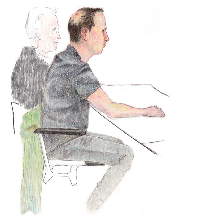 De 31-jarige verdachte Arnhemmer vandaag in de rechtbank.