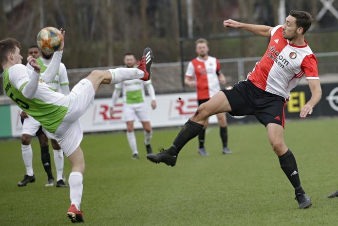 Rotterdam - voetbal -  (5) Youri Verschoor - Jeffrey Duijnstee  tijdens de wedstrijd SC Feyenoord  - Spijkenisse - foto Carla Vos/Cor Vos © 2020