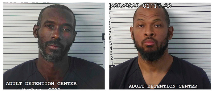 De twee hoofdverdachten: Lucas Morton (links) en Siraj Wahhaj. Morton is Wahhaj's zwager.