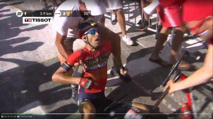Rook doet Nibali botsen op motard, out met wervelbreuk