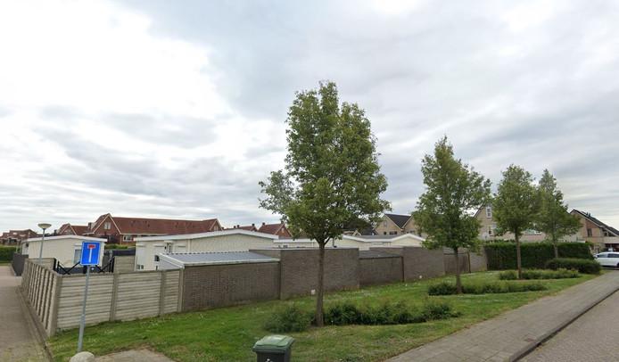 Het minikamp in de wijk Passewaayen in Tiel.